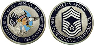 """Air Force ENLISTED RANKS - Chief Master Sergeant """"E9'' Challenge Coin / Logo Poker / Lucky Chip"""