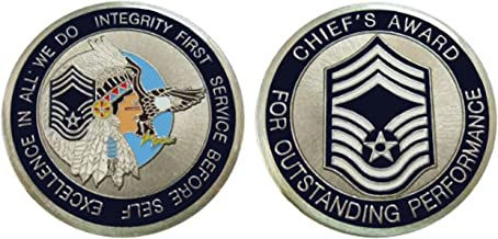 Air Force Chief Master Sergeant E9 Challenge Coin