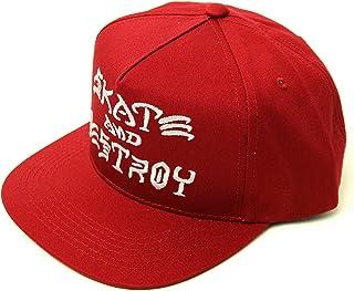 (スラッシャー)THRASHER MAGZINE(US企画)キャップ 帽子 スナップバック SAD Embroidered Snapback Hat Wine Red(ワインレッド)