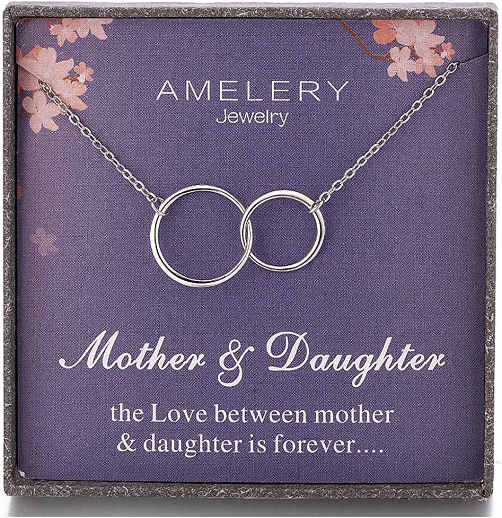 Outlet SALE Gifts for Mother Daughter Max 82% OFF Necklace Sterling Interlock Silver Two