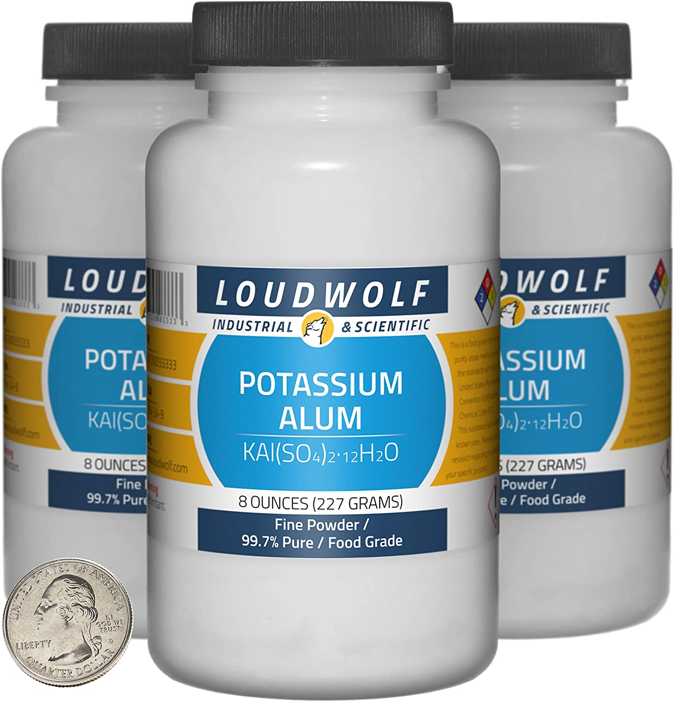Potassium Alum 1.5 Ranking TOP20 Pounds 3 Pure Bottles 99.7% Grade Nashville-Davidson Mall Food