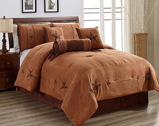 Amazon.com: 7 Piece (California) Cal King Size Chocolate/Brown