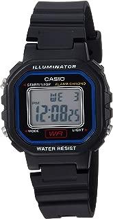 Women's Classic Quartz Watch with Resin Strap, Black, 9 (Model: LA-20WH-1CCF