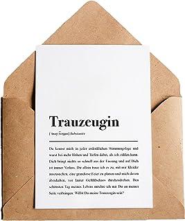 Trauzeugin: Karte mit Umschlag – Trauzeugin Definition