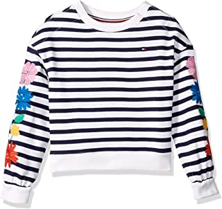 Girls' Big Adaptive Knit Top with Velcro Brand Closure