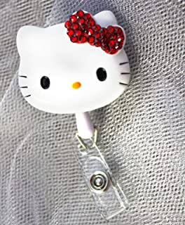 AYREELS 3D Bling Hello Kitty Retractable Reel ID Badge Holder_RED Bow 1pc