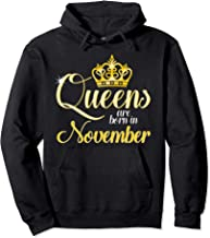 Queens Are Born In November Birthday Pullover Hoodie Pullover Hoodie
