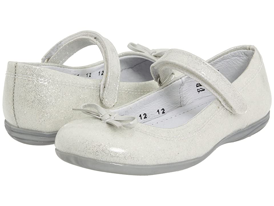 Kid Express Josie (Toddler/Little Kid/Big Kid) (White Glitter Patent) Girl