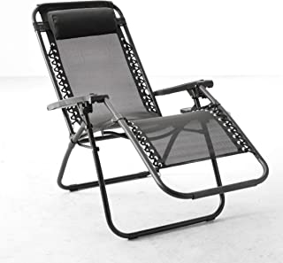 BACKYARD EXPRESSIONS PATIO · HOME · GARDEN 906630 Anti-Gravity Chair, Black
