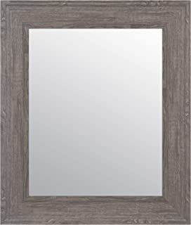Everly Hart Collection Woodgrain Framed Wall Mounted Accent Mirror, 16