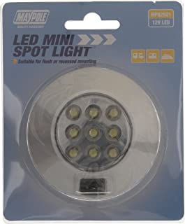 Maypole 82921  Mini Plata Spot LED luz, 12  V