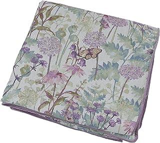 McAlister Textiles Fleurs Sauvages Couverture en Lin Chemin de Lit, Canapé et FauteuilRevers Velours Raffiné - Accessoire...