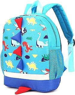 Kid Toddler Backpack Boy Preschool with Strap Dinosaur Blue Kindergarten Bookbag…
