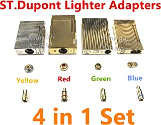 ASW Gas Refill Adapters Compatible with ST Dupont Lighter 4 in 1 Yellow/Red/Green/Blue Cap