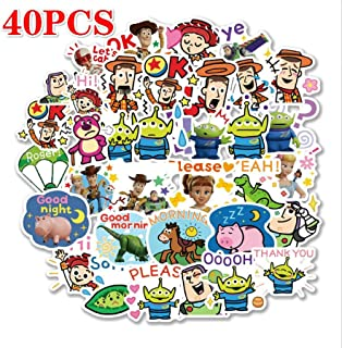 40/80PCS Toy Story 4 Sticker Forky Woody Alien Buzz Lightyear Waterproof Stickers Phone Book Refrigerator Laptop Stickers (1)