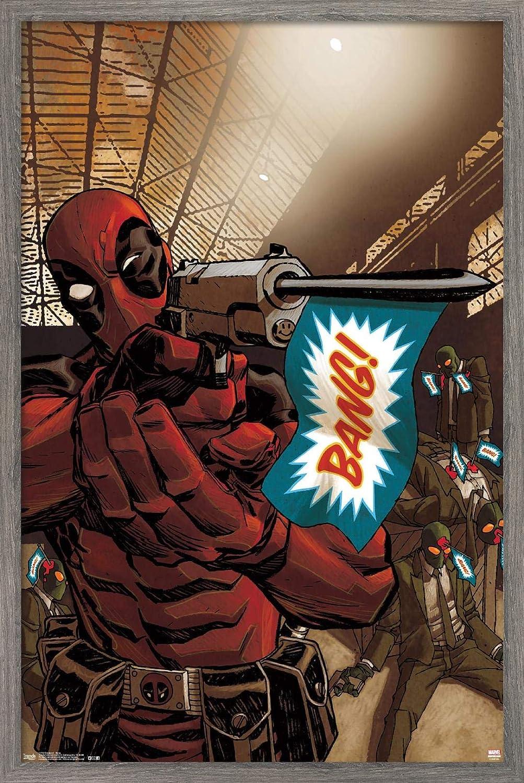 Free shipping New Trends International Marvel Comics - Poster Bang Deadpool Wall Dallas Mall