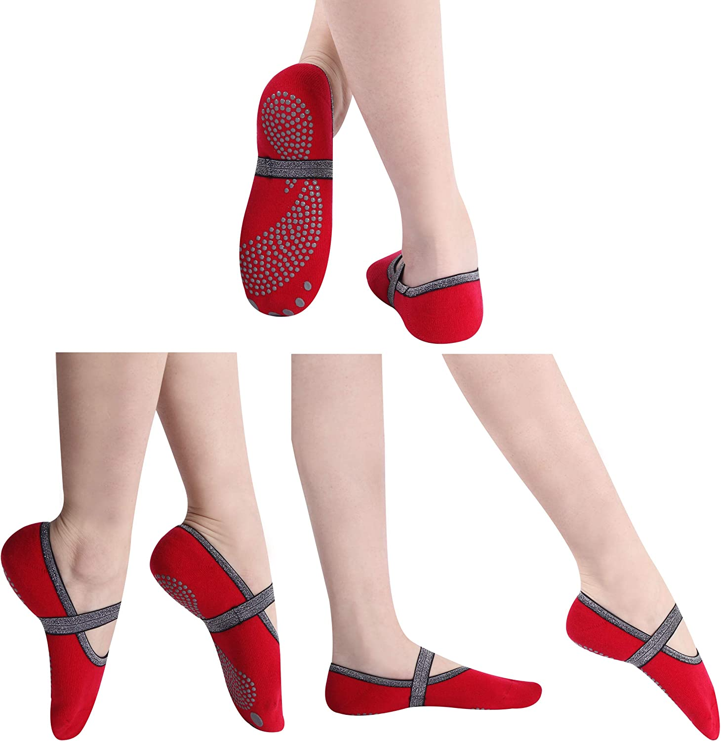 SuMade Sale SALE% OFF Yoga Silicone Socks with Straps Women Sales results No. 1 Exercise Sock Home