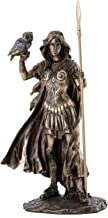 Top Collection Athena Greek Roman Mythology Statue - Goddess of Wisdom, War & the Arts Sculpture in Premium Cold Cast Bronze - 10-Inch Collectible Museum Grade Figurine