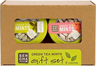 Sencha Naturals Green Tea Mints, Canisters Gift Set, 1.2 Ounce (6 Count) - Combo 1