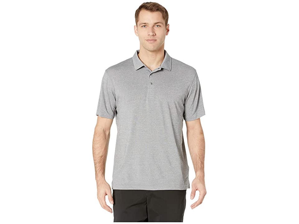 Image of PUMA Golf Grill To Green Polo (Puma Black Heather) Men's Clothing