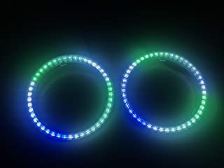 Sando Tech 2PCS 80MM Dream Chasing Color Car Angel Eyes Halo Rings, Smart Phone iOS Android App Bluetooth Control Multilple Colors