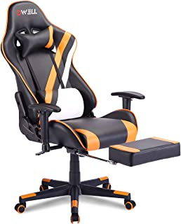EDWELL Gaming Chair,Office Chair with Footrest,High Back Computer Chair,Adjustable Desk Chair with Headrest and Lumbar Sup...