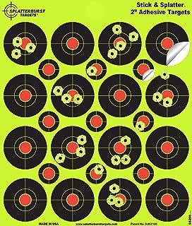 Splatterburst Targets - 2 inch Stick & Splatter Reactive Self Adhesive Shooting Targets - Gun - Rifle - Pistol - Airsoft - BB Gun - Pellet Gun - Air Rifle