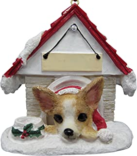 Chihuahua Tan and White Ornament A Great Gift For Chihuahua Owners Hand Painted and Easily Personalized