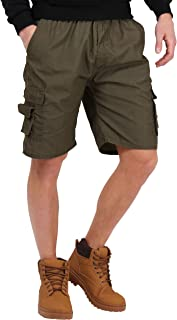 KRISP Mens Cotton Summer Shorts Trousers Combat Cargo Pants Camouflage
