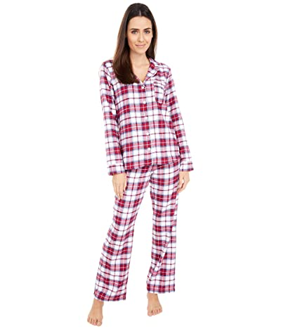 UGG Raven Set Flannel Gift (White/Red Plaid) Women