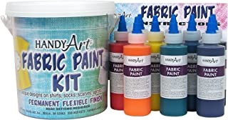Handy Art 9 color - 4 ounce Fabric Paint Kit