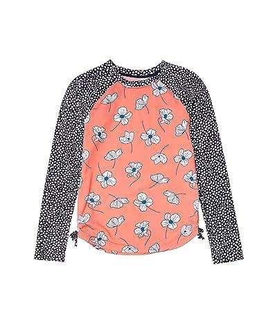 Hatley Kids Delicate Flowers Long Sleeve Rashguard (Toddler/Little Kids/Big Kids) (Pink) Girl