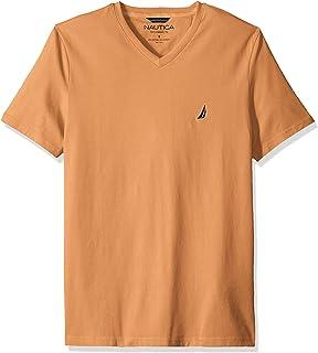 Nautica Men's Short Sleeve V-Neck Solid Jersey T-Shirt