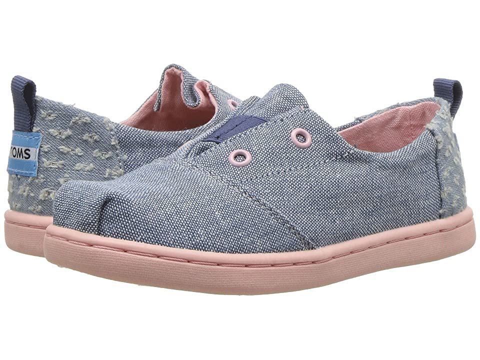 TOMS Kids Lumin (Infant/Toddler/Little Kid) (Blue Slub Chambray) Girl