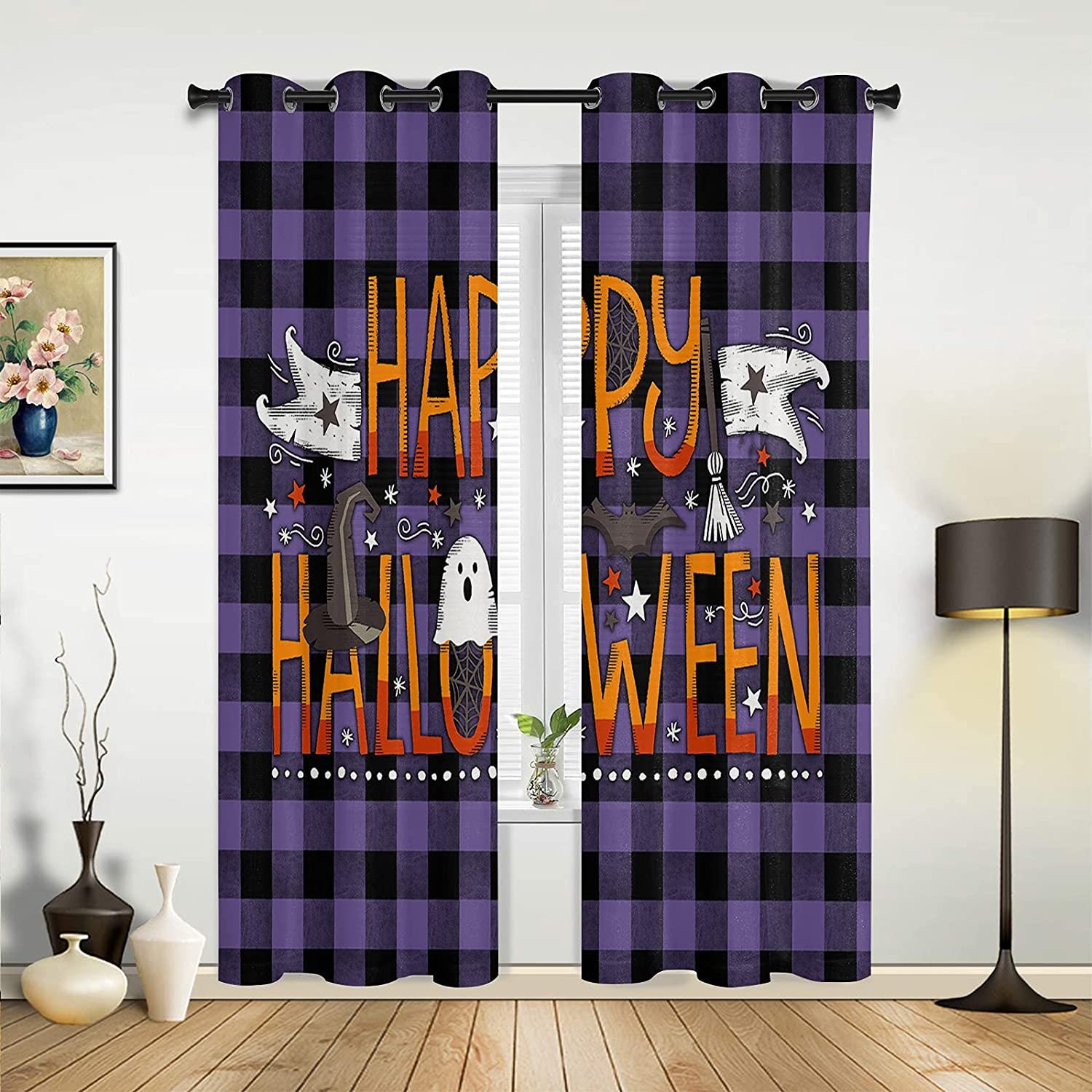 Window Super sale period limited Sheer Curtains for Bedroom Ranking TOP7 Living Hal Treat Room Trick or