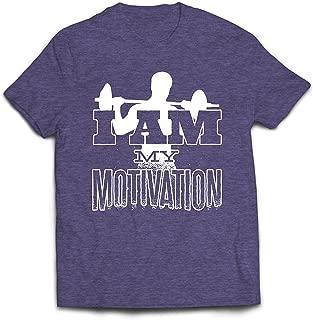 Men's T-Shirt I Am My Motivation, Weightlifting Squat Deadlift