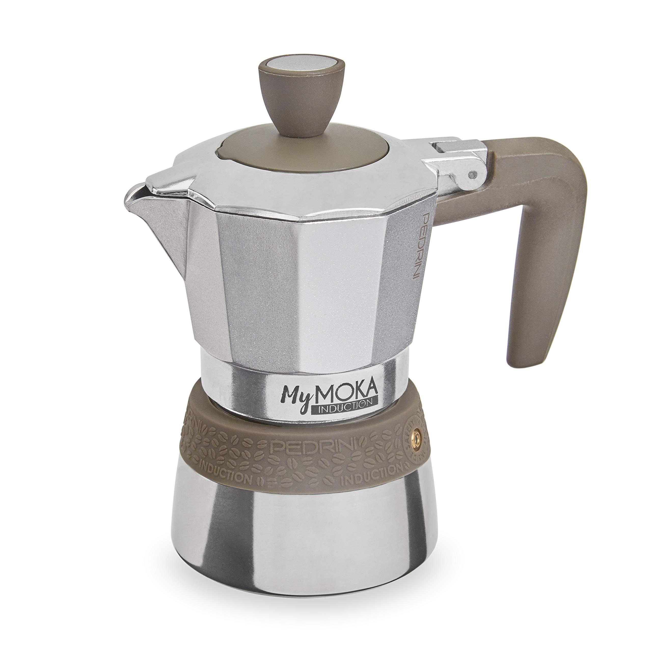 Pedrini MyMoka - Cafetera de inducción Inducción Mymoka 2 Tazze TóRTOLA: Amazon.es: Hogar