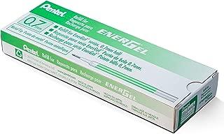 Pentel Refill Ink for BL57/BL77 EnerGel Liquid Gel Pen, 0.7mm, Metal Tip, Green Ink, Box of 12 (LR7-D-12)