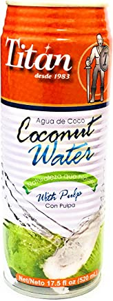 Titan Coconut Water with Pulp - 17.5 Fl Oz Can (Count of 3)