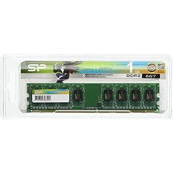 シリコンパワー デスクトップPC用メモリ 240PIN DDR2 667 PC2-5300 1GB 永久保証 SP001GBLRU667S02