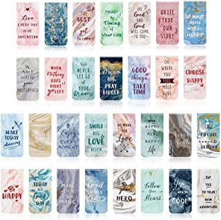 30 Pieces Inspirational Magnetic Bookmarks Marble Magnetic Bookmarks Page Clips Bookmarks for Students Teachers School Hom...