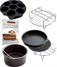 Air Fryer Accessories for Gowise Phillips and Cozyna, Deluxe Set of 6, Fit all 3.7QT