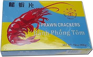 16oz Prawn Crackers Shrimp Chips Banh Phong Tom Giant Bridge Brand Deep Fry at Home