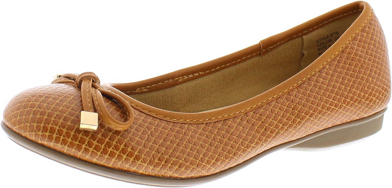gold Toe Malorie Womens Comfortable Memory Foam Ballet Flat shoes,Work Comfort Dress Flats Low Wedge Pump for Women