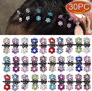 Elesa Miracle Crystal Rhinestone Mini Flower Hair Claw Clip Baby Toddler Girl Hair Bangs Pin Kids Hair Accessories