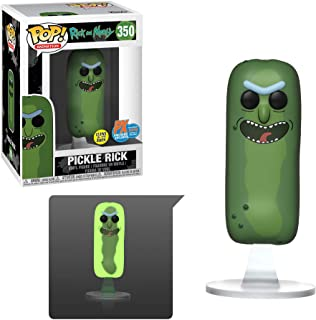 Rica y madura píldora Rick que brilla en la oscuridad Pop! Vinilo Figura - San Diego Comic-Con 2019 Exclusive