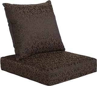 Affair Deep Seat Sofa Chair Outdoor Cushion Set - Black Floral
