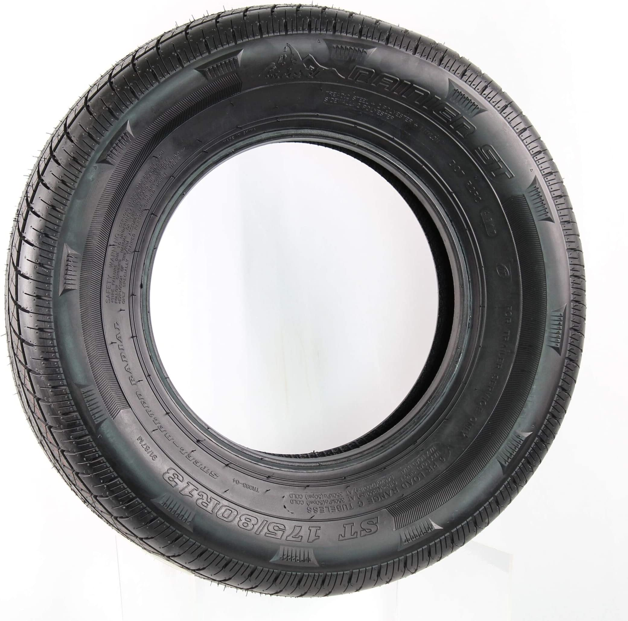 2-Pack eCustomrim Rainier Radial Trailer Tire ST215//75R14 LRC 1870 Lb 50 PSI