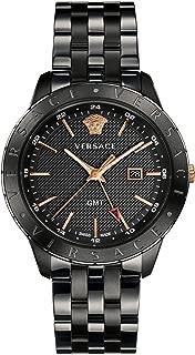 Men's Business Slim Quartz Watch with Stainless-Steel Strap, Black, 21 (Model: VEBK00618)