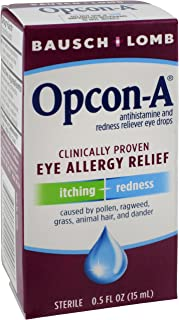 Bausch & Lomb Opcon-A Eye Drops, 0.5 Ounce (Pack of 3)